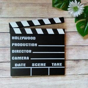 Hollywood directors slate sign wall art